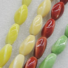 Ceramics Beads, Mix Color, Twist Oval 11x22mm, Sold by Bag