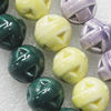 Ceramics Beads, Mix Color, 15mm, Sold by Bag