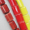 Ceramics Beads, Mix Color, Rectangle 15x17mm, Sold by Bag