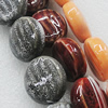 Ceramics Beads, Mix Color, Flat Round 21x23mm, Sold by Bag