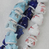 Printing Ceramics Beads, Mix Color, Animal 19x19mm, Sold by Bag