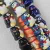 Printing Ceramics Beads, Mix Color, Animal 14x17mm, Sold by Bag