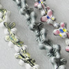 Printing Ceramics Beads, Mix Color, Butterfly 18x13mm, Sold by Bag