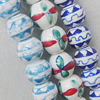 Printing Ceramics Beads, Mix Color, Round 20mm, Sold by Bag