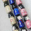 Printing Ceramics Beads, Mix Color, Mushroom 12x26mm, Sold by Bag