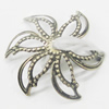 Connectors, Zinc Alloy Jewelry Findings, Flower 18mm, Sold by Bag