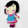 Acrylic Cabochons, No-Hole Jewelry findings, girl, 24x42mm, Sold by PC