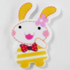 Acrylic Cabochons, No-Hole Jewelry findings, Rabbit, 24x40mm, Sold by PC