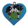 Zinc Alloy Enamel Pendant, Heart 31x31mm, Sold by PC