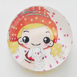 Resin Cabochons, No-Hole Jewelry findings, Round 26mm, Sold by Bag