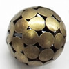 Iron Jewelry Finding Beads Lead-free, Round, 22mm, Sold by bag