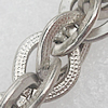 Iron Jewelry Chains, Lead-free Link's size:10x8mm, thickness:1.5mm, Sold by Group