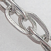 Iron Jewelry Chains, Lead-free Link's size:13.5x7.5mm, thickness:1.5mm, Sold by Group