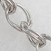 Iron Jewelry Chains, Lead-free Link's size:10x7.5mm, thickness:0.8mm, Sold by Group
