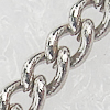 Iron Jewelry Chains, Lead-free Link's size:2.8x2.0mm, thickness:0.2mm, Sold by Group