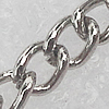 Iron Jewelry Chains, Lead-free Link's size:3.1x2.4mm, thickness:0.3mm, Sold by Group