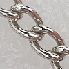 Iron Jewelry Chains, Lead-free Link's size:3.4x2.9mm, thickness:0.5mm, Sold by Group