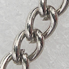 Iron Jewelry Chains, Lead-free Link's size:4.6x3.4mm, thickness:0.7mm, Sold by Group