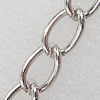 Iron Jewelry Chains, Lead-free Link's size:8.9x5.6mm, thickness:1mm, Sold by Group