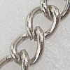 Iron Jewelry Chains, Lead-free Link's size:7.9x6.8mm, thickness:1.1mm, Sold by Group
