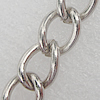 Iron Jewelry Chains, Lead-free Link's size:9.4x7.0mm, thickness:1.2mm, Sold by Group