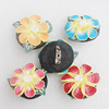 Polymer Clay Brooch, Handmade, Mix Color, 30mm, Sold by Group