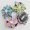 Polymer Clay Brooch, Handmade, Mix Color, 38mm, Sold by Group