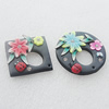 Pottery Clay Pendants/Earring charm, Mix Style, 41mm-45mm, Sold by Group