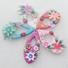 Pottery Clay Pendants/Earring charm, Mix Color, Teardroop 24x55mm, Sold by PC