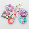 Pottery Clay Pendants/Earring charm, Mix Color & Mix Style, 41mm-24x55mm, Sold by Group