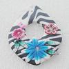 Pottery Clay Pendants/Earring charm, Teardrop 38x50mm, Sold by PC