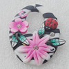 Pottery Clay Pendants/Earring charm, Flat Oval 30x40mm, Sold by PC