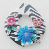 Pottery Clay Pendants/Earring charm, Teardrop 40x50mm, Sold by PC