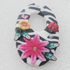 Pottery Clay Pendants/Earring charm, Flat Oval 30x49mm, Sold by PC