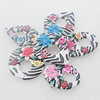 Pottery Clay Pendants/Earring charm, Mix Style, 30x40mm-40x50mm, Sold by Group