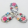 Pottery Clay Pendants/Earring charm, Mix Color, Flat Ova 30x49mm, Sold by Group