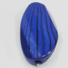 Watermark Acrylic Beads, Faceted Flat Oval 16x32mm, Sold by Bag