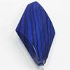 Watermark Acrylic Beads, Twist Diamond 15x27mm, Sold by Bag