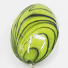 Watermark Acrylic Beads, Flat Oval 20x28mm, Sold by Bag