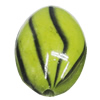 Watermark Acrylic Beads, Flat Oval 14x20mm, Sold by Bag