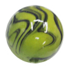Watermark Acrylic Beads, Round 20mm, Sold by Bag