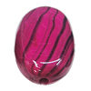 Watermark Acrylic Beads, 16x23mm, Sold by Bag
