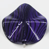 Watermark Acrylic Beads, Twist Flat Round 26mm, Sold by Bag