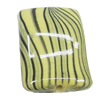 Watermark Acrylic Beads, Twist Rectangle 18x25mm, Sold by Bag