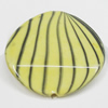 Watermark Acrylic Beads, Twist Flat Round 27mm, Sold by Bag