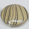 Watermark Acrylic Beads, Flat Round 33mm, Sold by Bag