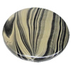 Watermark Acrylic Beads, Flat Round 41mm, Sold by Bag