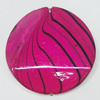 Watermark Acrylic Beads, Twist Flat Round 35mm, Sold by Bag
