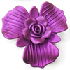 Spray-Painted Acrylic Flower, 58x51mm, Sold by PC