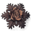 Spray-Painted Acrylic Flower, 56mm, Sold by PC